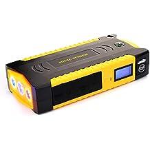 Motor 6,0L Gas // 5L Diesel Salida de 12V//6A Toma de Encendedor de Cigarrillos Linterna de LED Acelerador de Bater/ía de 12V con 4 USB 5//9//12V Quick Charge HelpAccess 600A Arrancador del Salto