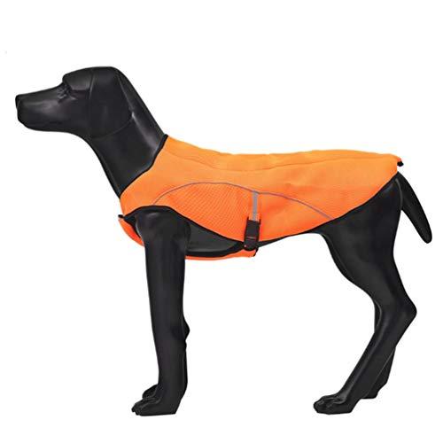 e für Hunde Vest Swamp Cooler Jacke Sicherheit Reflektierende Kühl-Weste für große Hunde Walking Outdoor Jagd Training Camping,Orange,XL ()