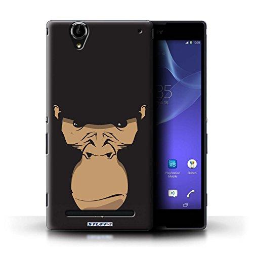 Stuff4® Hülle/Hülle für Sony Xperia T2 Ultra/Gorilla/Schimpanse/AFFE Muster/Schnauzen Kollektion