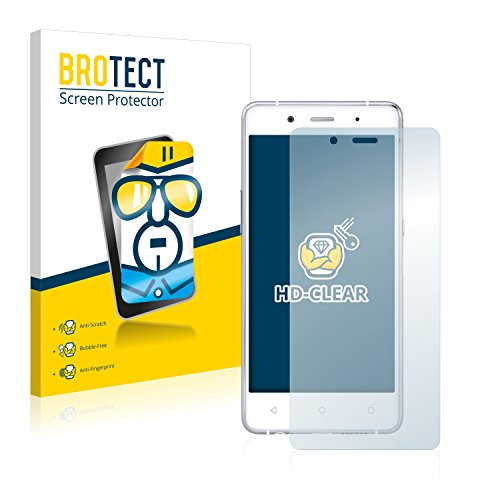 BROTECT Schutzfolie kompatibel mit BQ Aquaris X5 Plus [2er Pack] - klarer Bildschirmschutz