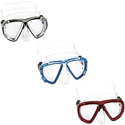 Bestway Hydro-Swim Blackstripe Kinder-Tauchmaske Masque Plongée Adulte Mixte, Mehrfarbig, Taille Universelle