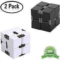 Yojoloin 2PCS Fidget Cubo Mágico Puzzle Flip Cube Ball Alivia la Ansiedad y el Estrés Killing Time Toys para Add, ADHD, Ansiedad y Autismo Adulto y Niños (2PCS)