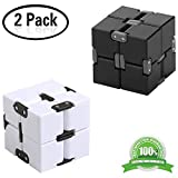 Yojoloin 2PCS Fidget Magic Cube Puzzle Flip Cube Ball allevia l'ansia e lo stress Killing Time Toys Per ADD, ADHD, ansia e autismo Adulti e bambini (2PCS)