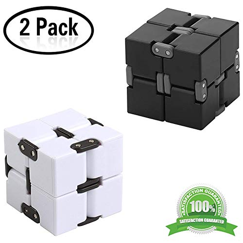 Yojoloin Zappeln Magie Blöcke Infinity Cube Puzzle Flip Cube Ball Stressabbau Zeit Killer Hand Zappeln Spielzeug Handgelenk Twister Spielzeug Schreibtisch Spielzeug (2 STÜCKE) - 2 Speed Schreibtisch