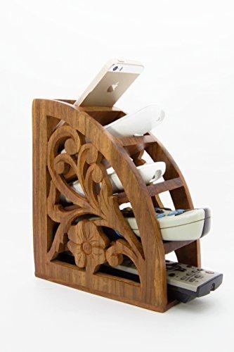 Stylla London Fernbedienungsständer aus Holz, handgefertigt