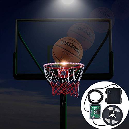 LONGSUODI Basketball Rim LED Licht Swish für Schlafzimmer Home Outdoor Garten Dekoration für Kinder Spiel Kinder Outdoor-Spielzeug