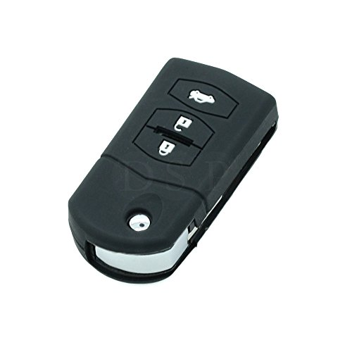 fassport-silicone-cover-skin-jacket-fit-for-mazda-3-button-flip-remote-key-cv3531-black