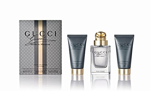 Gucci Made To Measure Travel Collection Coffret: Eau De Toilette Spray 90ml + After Shave Balm 50ml + All Over Shampoo 50ml 3pcs