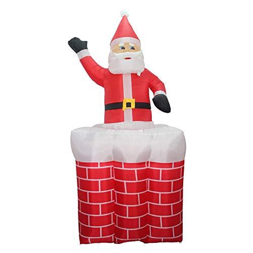 Aufblasbar Weihnachten Hof Dekorationen - 7 Fuß-Weihnachtsaufblasbarer Weihnachtsmann im Kamin auf