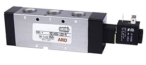 Aro m214ss-120-a 4-Wege-2Position Magnetventil, 1/5,1cm NPT/120V, schwarz (Magnetventil-120v)