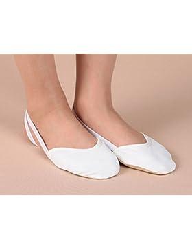 Tfxwerws Dancing scarpe per balletto danza del ventre o bianco (M)