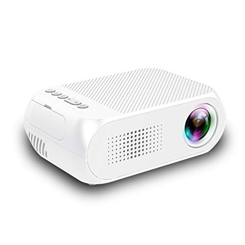 XDXDO Tragbarer Mini-Telefonprojektor HD-Videoprojektor 1080p Unterstützt für Home Entertainment LED Kompatibel mit HDMI, VGA, TF, AV, USB,White (Decke Der Heimkino In)