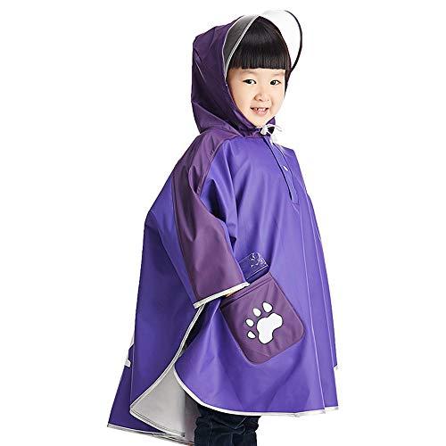 XIANWEI Raincoat Girl Waterproof Hooded Jacket,All In One Waterproof Rainsuit Poncho/cloak/cover,outdoor Rainwear Jacket