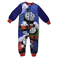 Jujak Boys Girls Fleece Onesie Sleepsuit Pyjamas (Thomas)