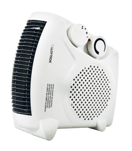Lloytron F2003WH Staywarm 2000W Upright / Flatbed Fan Heater (BEAB) with Two Heat Settings and Cool Blow, White