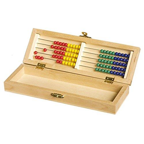 Bürobox mit Rechenrahmen aus Holz, ein tolles Stifteetui mit Abakus, spielerische Rechenhilfe ab dem 1. Schultag, handlich und passend für den Schulranzen