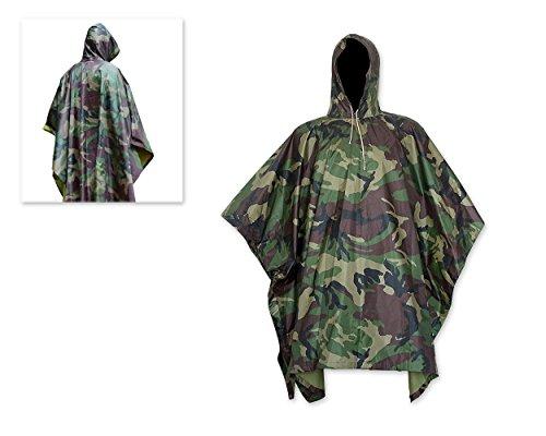 DSstyles Wasserdichte Regenjacke mit Kapuze Regen Poncho für die Jagd Camping Regen Tarnung Regenjacke (Camo Regen-jacke Für Frauen)
