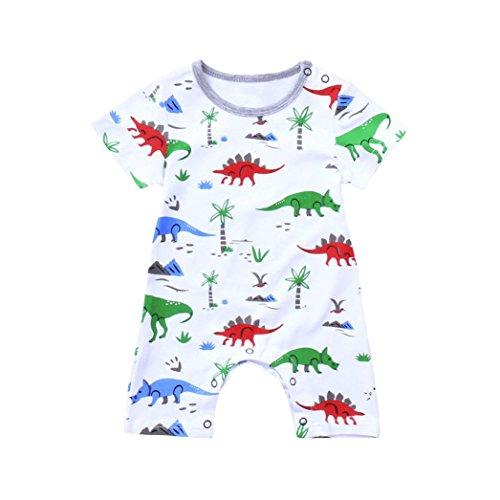 rene Kinder Baby Dinosaurier Jungen Mädchen Outfits Kleidung Strampler Overall (Die Dinosaurier Show Kostüme)