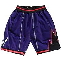 WWWJ Toronto Raptors - Pantalones cortos de baloncesto para hombre, color rojo, de secado rápido y absorción de sudor
