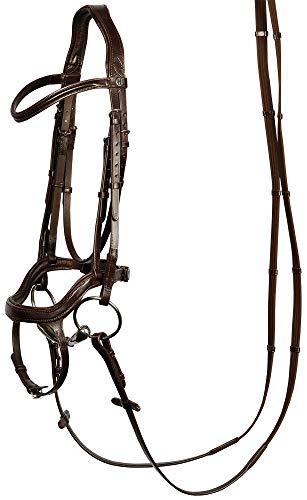 Harry\'s Horse Schwedische Trense Anatomic Leder mehr Komfort für das Pferd (Vollblut, Braun)
