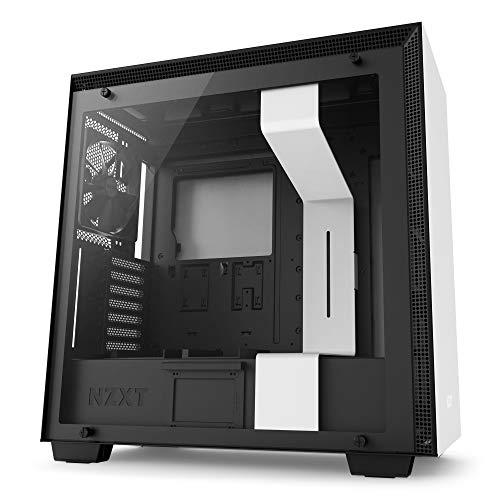 NZXT H700 - ATX-Mid-Tower-Gehäuse für Gaming-PCs - Tempered Glass Fenster - Verbessertes Kabelmanagementsystem - Optimiert für Wasserkühlungen - Weiß/Schwarz