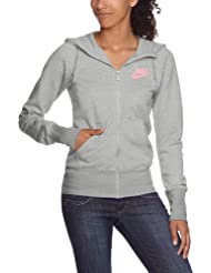 Nike – Chaqueta con capucha Limitless Left Chest Full Zip Hoody, mujer, Kapuzenjacke Limitless Left Chest Full Zip Hoody, dk grey heather/polarized pink, L