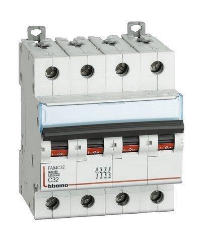 BTICINO FA84C25 - BTDIN45 - MAGNETOT 4P CURVA C 25A 4 5KA