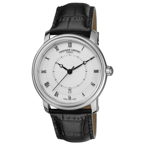 FREDERIQUE CONSTANT CLASSICS CHOPIN FC-303CHE4P6 GENTS BLACK CALFSKIN DATE WATCH