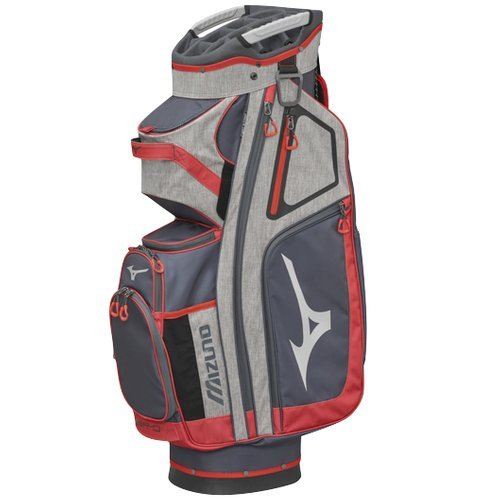 Mizuno BRD4C Sac de Golf Mixte Adulte, Gris/Rouge