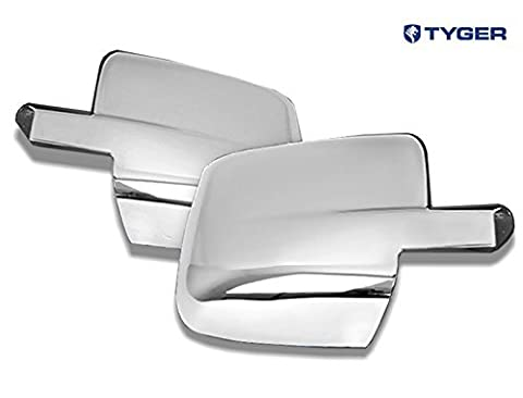 TYGER ABS Triple Chrome Plated A Pair Mirror Covers 09-13 Dodge Ram 1500/10-13 Ram 2500/3500 Without Turn Signal Place Cutout (Not for Towing Mirror) by Tyger