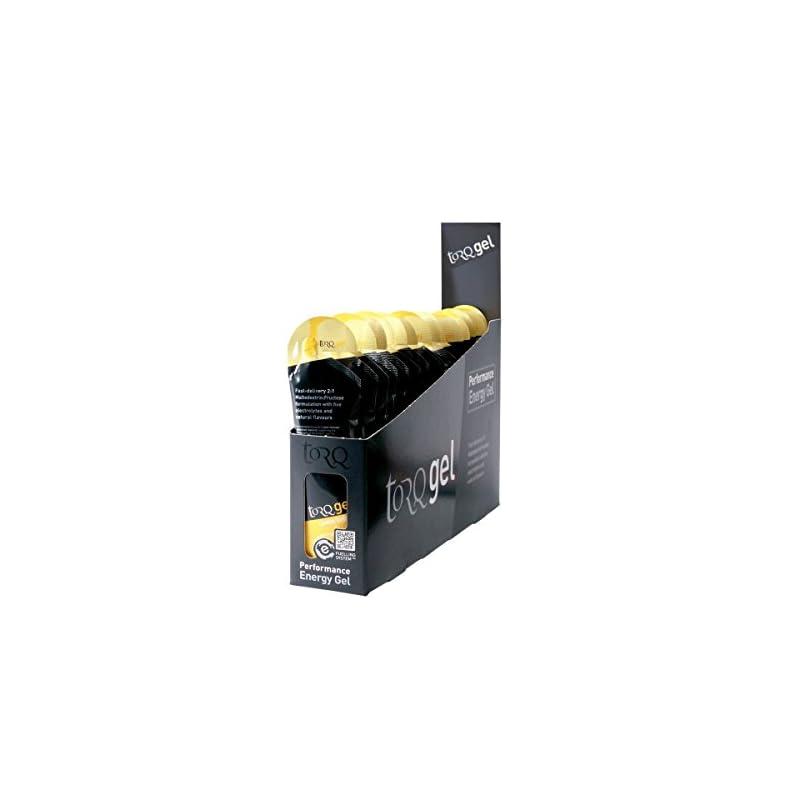 TORQ Unisex's Energy Gel, Lemon Drizzle, 15 x 45g