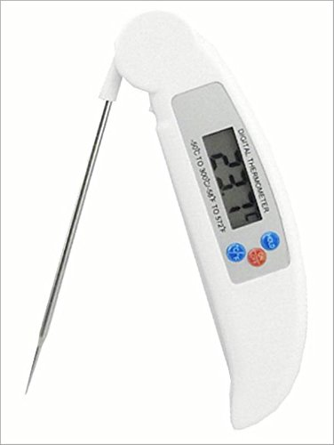 Inovey Bbq Numérique Pliant Sonde Thermomètre Sonde De Température Des Aliments Ménages Thermomètre Ustensiles De Cuisine-Blanc