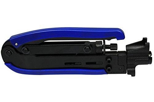 RG59 RG6 RG11 cavo F-connettore Compressione Crimpatrice manuale Attrezzo di piegatura (blu)
