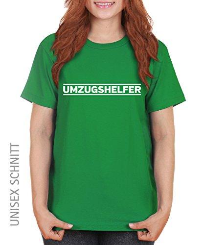 -- Umzugshelfer -- Girls T-Shirt auch im Unisex Schnitt Kelly Green