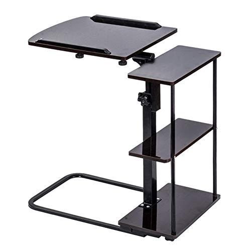 ZHEDAN Medical Tilt Overbed Table, Verstellbarer Laptop-Ständer, Ergonomischer Laptop-Schreibtisch Mit Rollen, Für Bed Sofa Office Desk -
