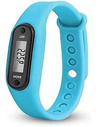 Kinlene Inteligentes relojes, paso reloj pulsera podómetro contador de calorias digital LCD relojes deportivos (