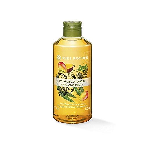 Yves Rocher LES PLAISIRS NATURE Duschbad Mango-Koriander, Aroma-Schaumbad & pflegendes Duschgel, 1 x Flacon 400 ml