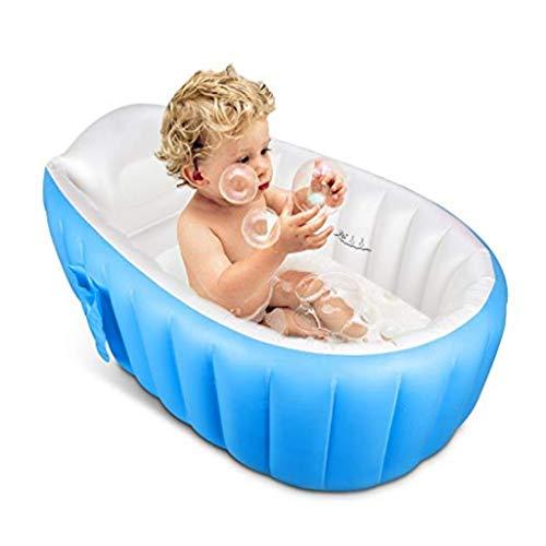 liuhoue Baby-aufblasbare Badewanne Lmeison, Tragbare Säugling Kleinkind Anti Rutsch Baden
