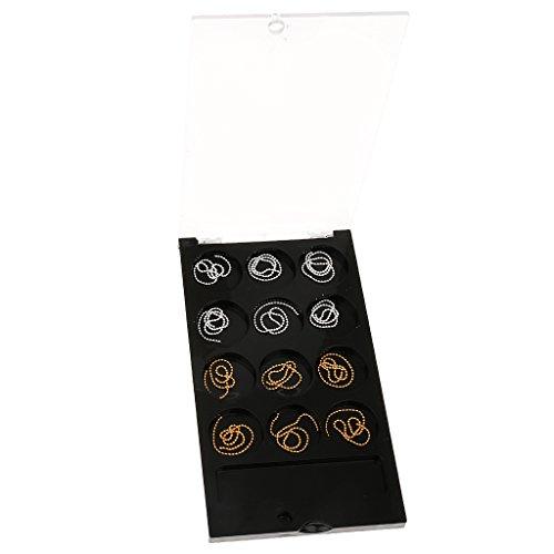 Boîte à Compartiments de Rangement Outil de Bijoux Conteneurs 12 Carreaux