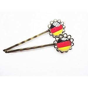 Haarklammern Haarnadeln Deutschland Flagge