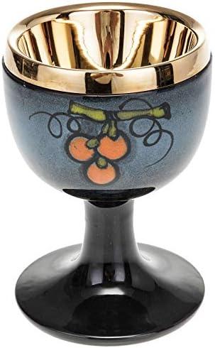 Holyart Holyart Holyart Calice Ceramica Blu Ottone Dorato 66447a