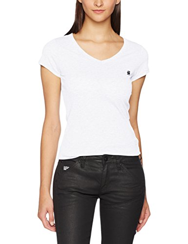 G-STAR RAW Damen T-Shirt Eyben Slim V T Wmn S/S, Weiß (White 110), 40 (Herstellergröße:L)