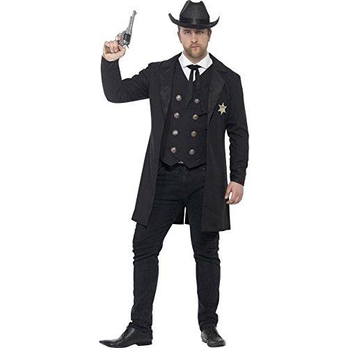 Western Herren Kostüm Sheriff Cowboy Karneval Fasching (Kostüm Sheriff Herren)