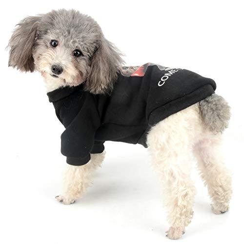 für Jungen, Winter, Fleece, Kapuzenpullover für Welpen, Sport, Chihuahua, warm, für kleine Hunde und Katzen ()