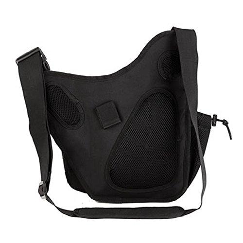Freedom-vp Damen Herren Military Tactical Umhängetasche schlutertasche Rucksack mit einem Gurt Sling Bags einseitige Rucksack Crossbag Uni Rucksack für Radfahren Wandern Camping Freizeit Tasche Schwarz