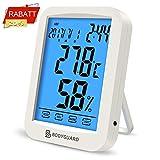 Bodyguard Digitales Thermometer Hygrometer, Temperatur Monitor mit Blauer Hintergrundbeleuchtung,...