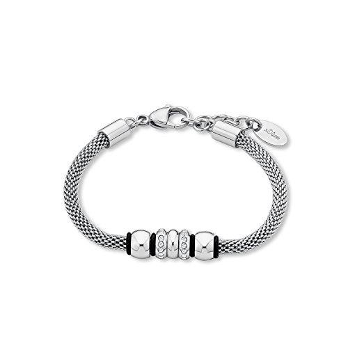 s.Oliver Damen-Armband Swarovski Elements Edelstahl Kristall weiß 21 cm - 567602