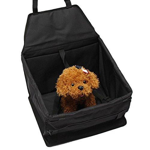 Preisvergleich Produktbild bestweekend Hund Cat Booster Autositz Cover Auto Haustier-Tragekorb Puppy Sicherheit Travel Schwarz