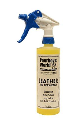 Poorboys Spray désodorisant Cuir de Voiture Odeur Eliminator 453,6 Gram 473 ML