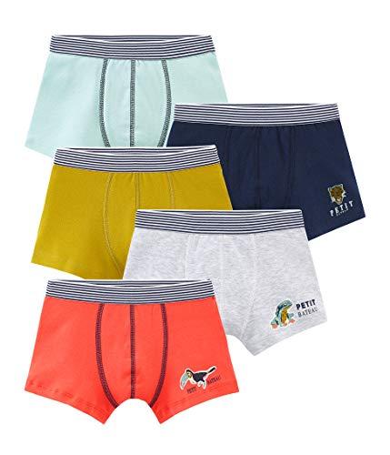 Petit Bateau 5 Boxers V Vêtements de corps de sport, Multicolore (Variante 1 00), 8 ans (Taille fabricant: 8A) ( 5 Garço